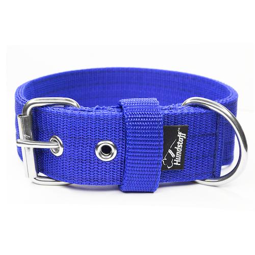 Active Blue 4cm brett blått hundhalsband