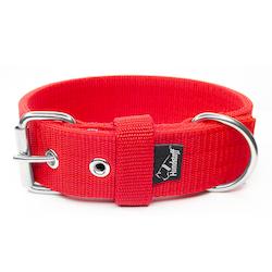 Active Red brett rött hundhalsband