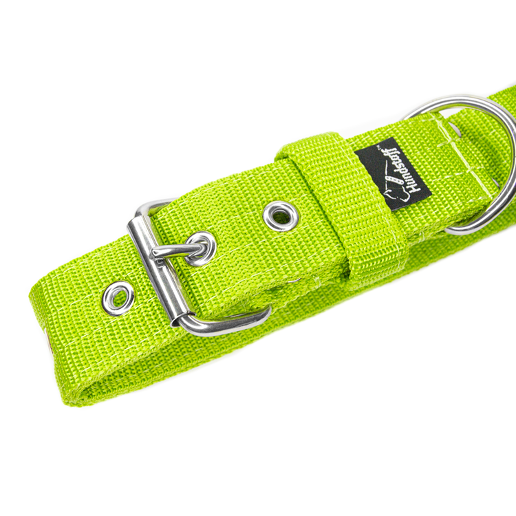 Active Lime brett limefärgat hundhalsband