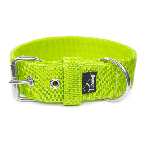 Active Lime 4cm brett limefärgat hundhalsband
