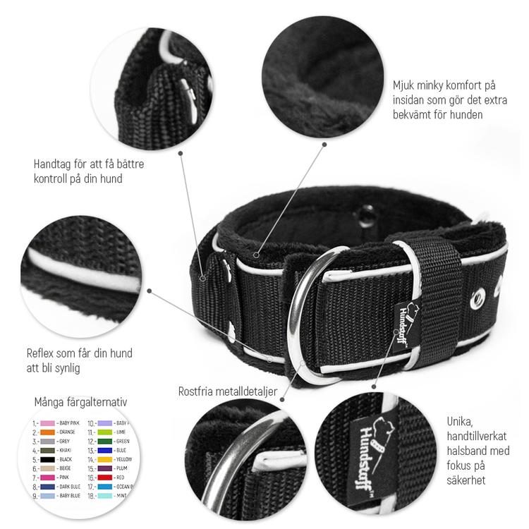Grip Reflex Beige - Beige halsband med reflex