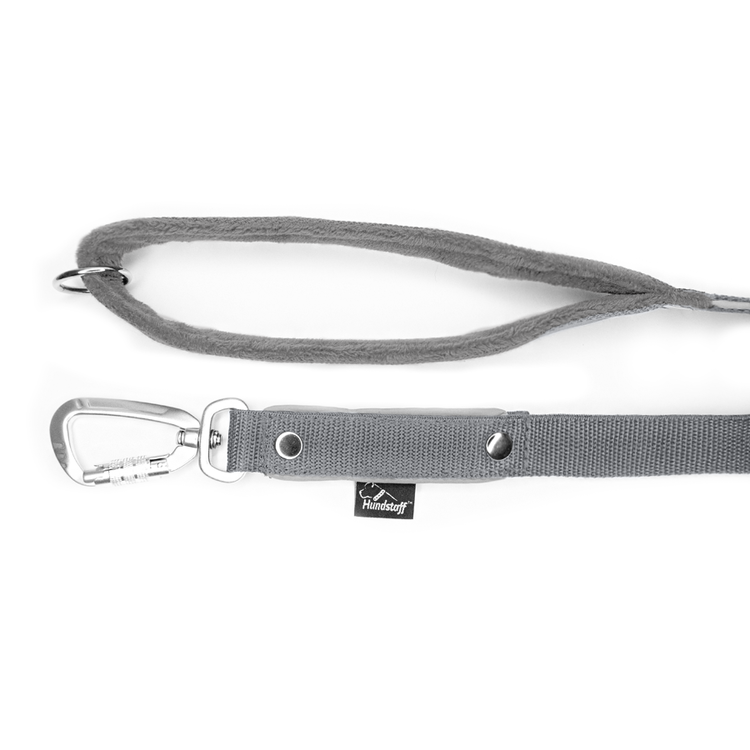 Safe koppel - Grått koppel med reflex och twist & lock