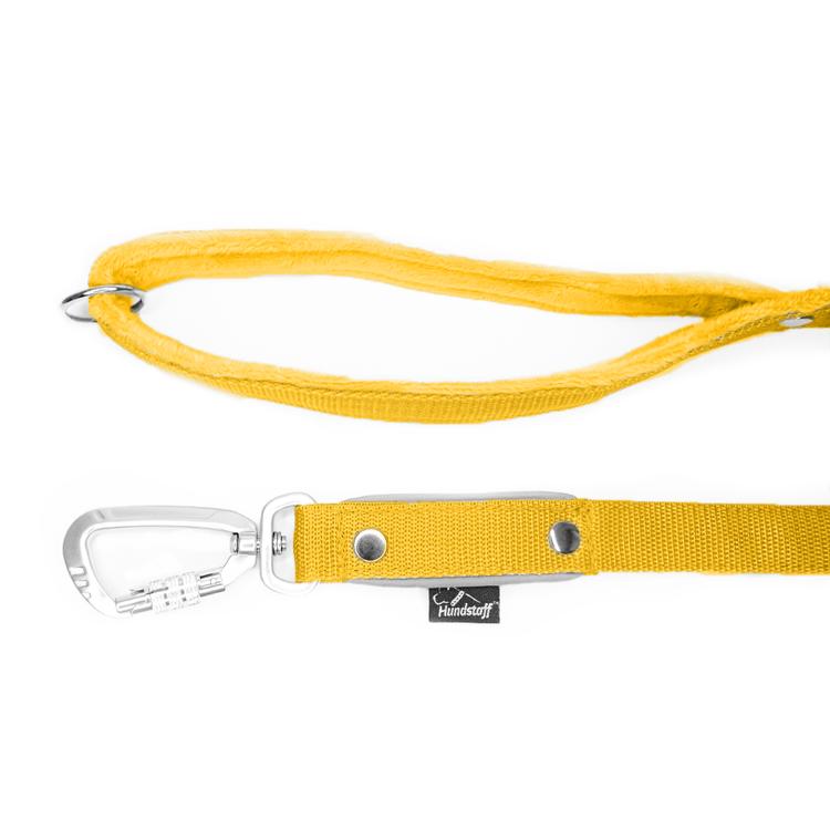 Safe koppel - Gult koppel med reflex och twist & lock