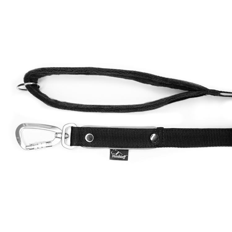 Safe koppel - Svart koppel med reflex och twist & lock