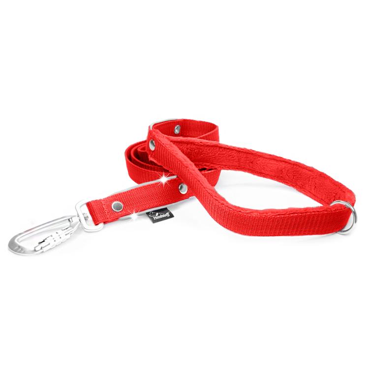 Safe koppel - Rött koppel med reflex och twist & lock