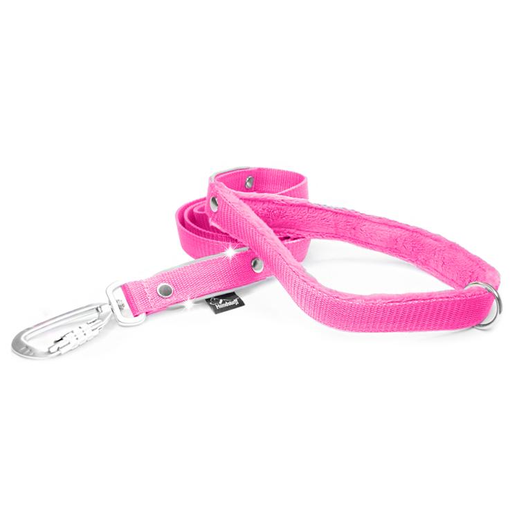 Safe koppel - Rosa koppel med reflex och twist & lock