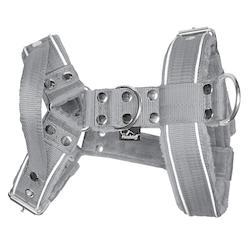 Dynamic Safe Grey - grå sele med reflex