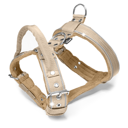 Dynamic Safe Beige - beige sele med reflex