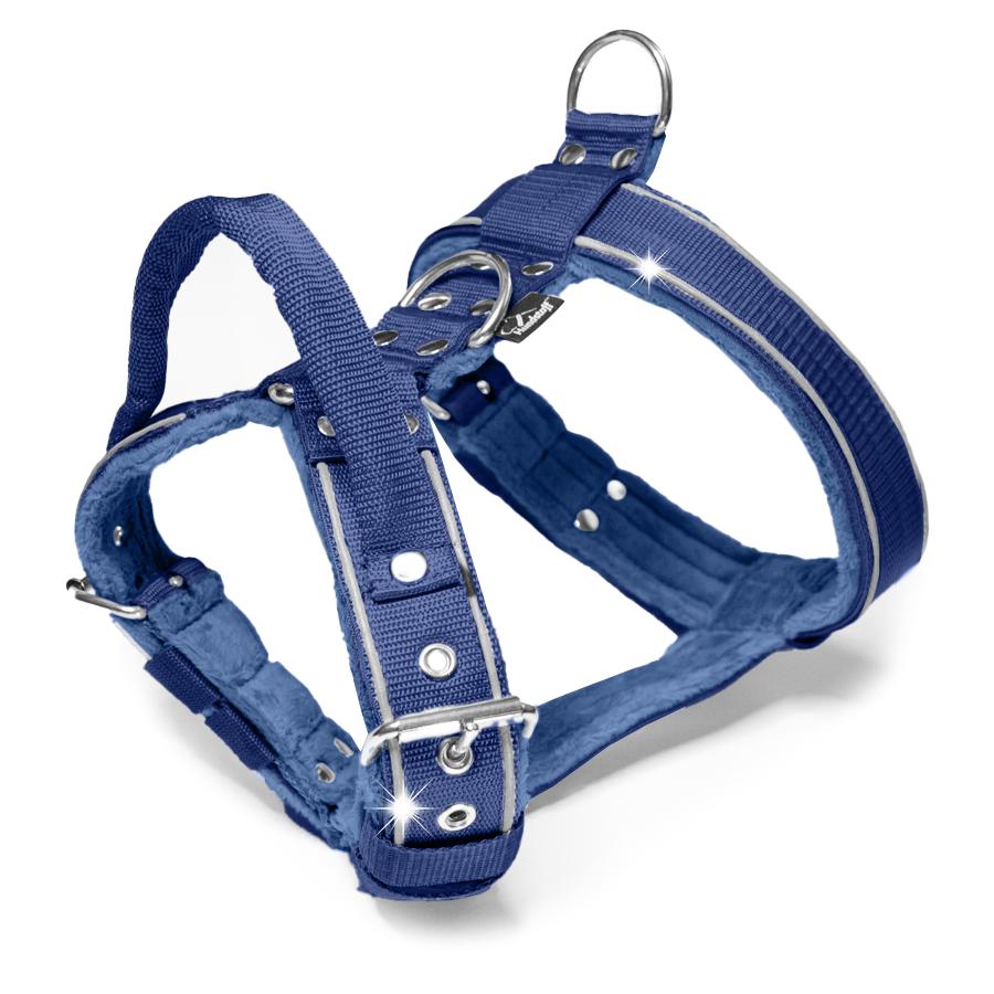 Dynamic Safe Navy Blue - mörk blå sele med reflex