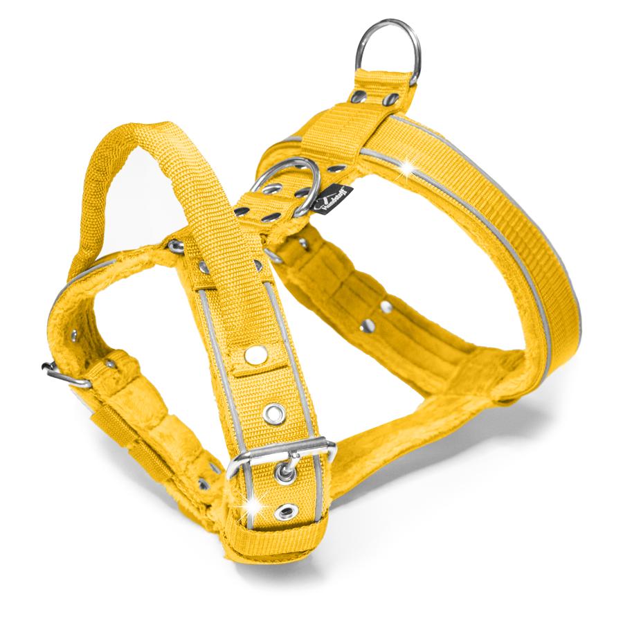 Dynamic Safe Yellow - gul sele med reflex