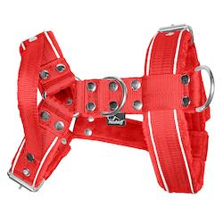 Dynamic Safe Red - röd sele med reflex