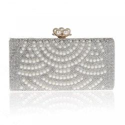 Silver Pearls Clutch