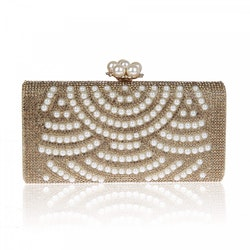Golden Pearls Clutch