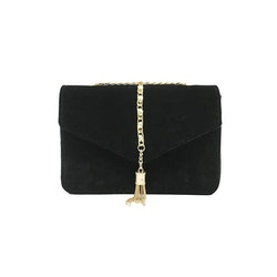 Crossbody Tassel Velour Bag Black