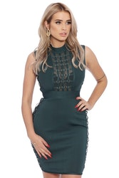 Jenna Bandage Dress Green