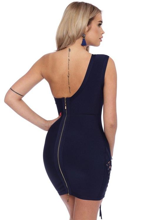 Bahare Dark Blue Bandage Dress