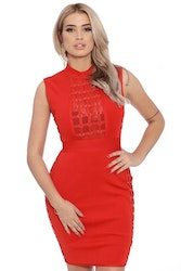 Jenna Bandage Dress Red