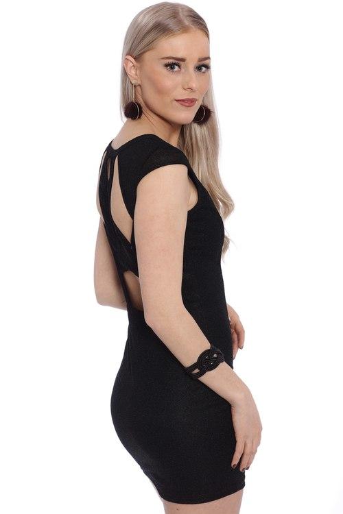 Heydi Black Glitter Dress