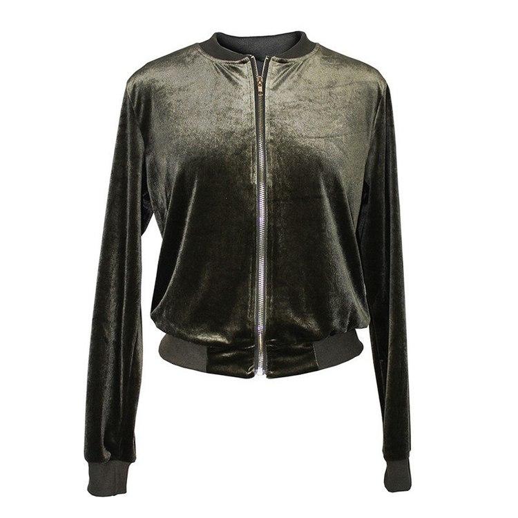 Velvet Jacket Green