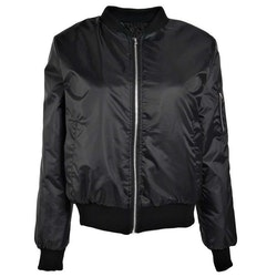 Thin Bomber Jacket Black