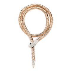 Python Long Necklace Gold