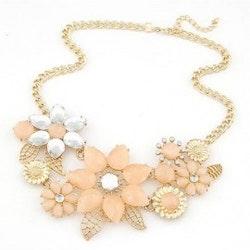 Flora Peach Gold Halsband