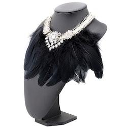 Feather Black Halsband