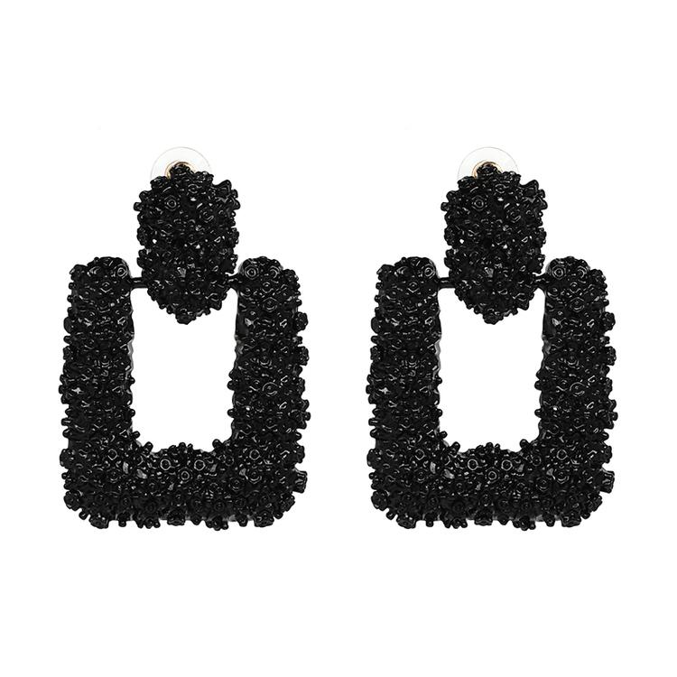 Ranya Black Earrings