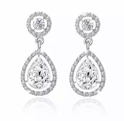 Sparkling Nina Clear Drop Earrings