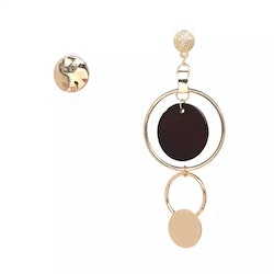 Asymmetric Bonnie Brown Earrings