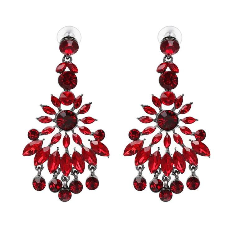 Nazly Crystal Red Örhängen
