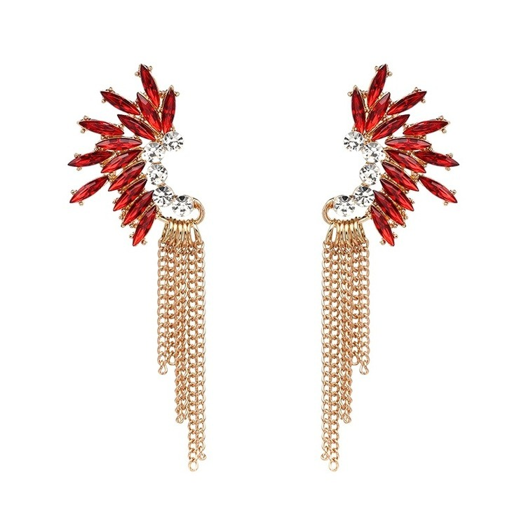 Red Golden Chains Örhängen