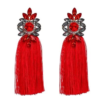 Bella Tassel Red Örhängen