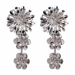 Magdalena Earrings Silver