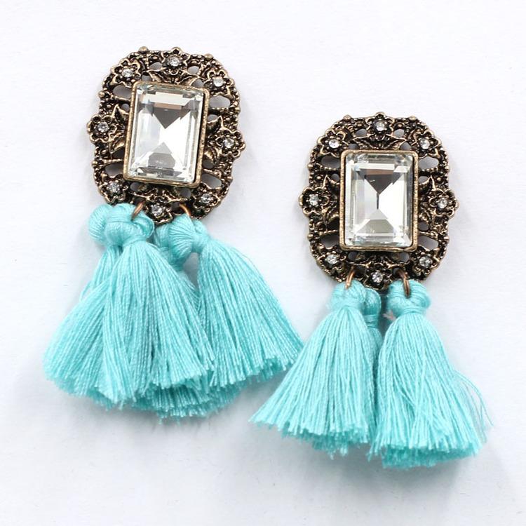 Nahla Light Blue Örhängen