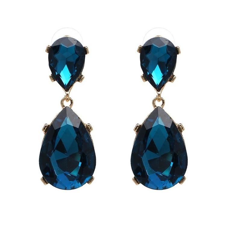 Lilo (big) Deep Turquoise Drop Örhängen