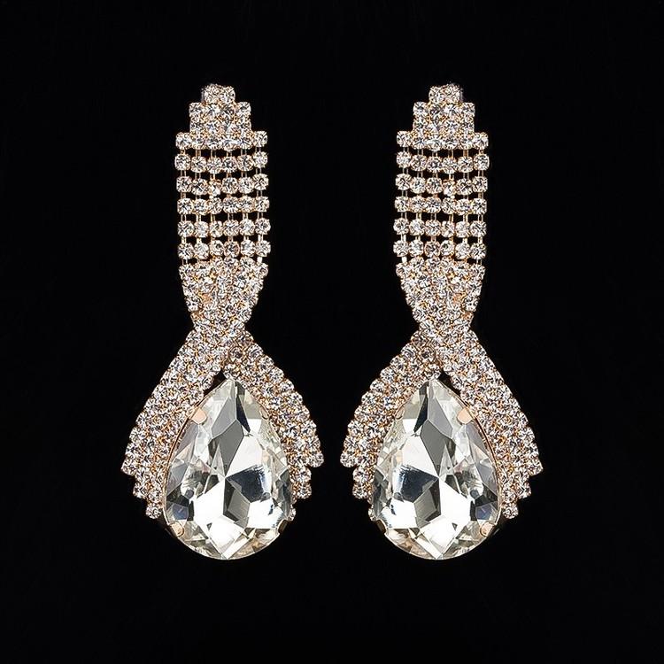 Domenika Earrings Drop Clear