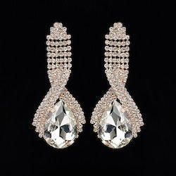 Domenika Earrings Drop Clear