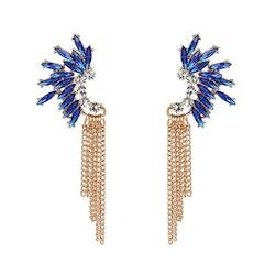 Blue Golden Chains Örhängen