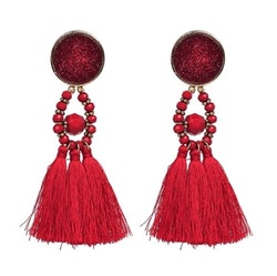 Amina Glam Red Örhängen