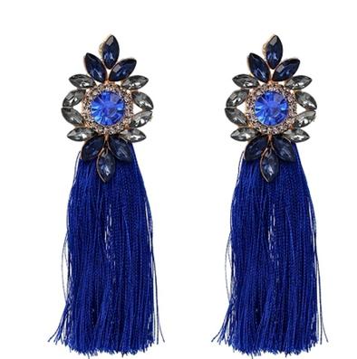 Bella Tassel Blue Örhängen