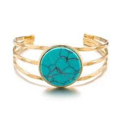 Ellen Turquoise  Marble Bracelet