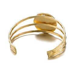 Ellen Black Marble Bracelet