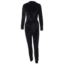 Mrs. Velvet Tracksuit Crushed Black