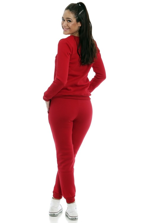 Stella Tracksuit Red With Zippers