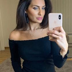 Adrianna Off Shoulder Long Sleeve Top Black