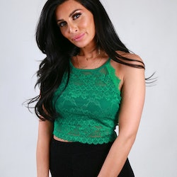Trina Top With Lace Green