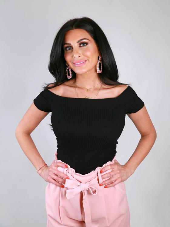 Sanja Off Shoulder Top Black