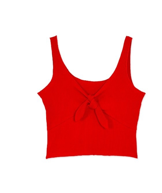Tracy Crop Top With Tie Red