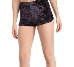 Mrs. Velvet Shorts Crushed Black/Purple